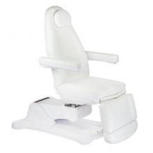 Elektryczny fotel kosmetyczny Mazaro BR-6672B 3 siłowniki Biały