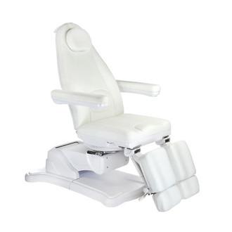 Elektryczny fotel kosmetyczny Mazaro BR-6672C Biały
