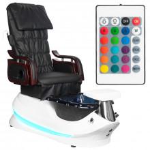 Fotel pedicure spa as-261 czarno-biały z funkcją masażu\n