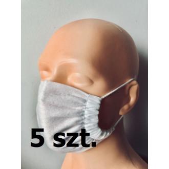Maseczka ochronna na twarz - jednorazowa op.5szt
