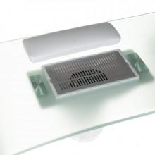 Stolik Biurko do manicure z pochłaniaczem BD-3425+P szklany blat
