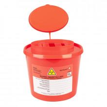 Pojemnik na odpady medyczne 1,0l czerwony