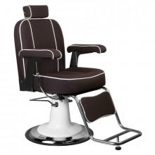 Gabbiano fotel barberski amadeo brązowy