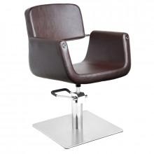 Gabbiano fotel fryzjerski helsinki brązowy