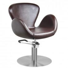 Gabbiano fotel fryzjerski amsterdam brązowy