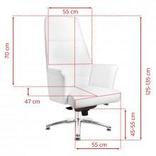 Fotel kosmetyczny rico 167 biały