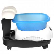 Brodzik azzurro z masażerem i wózkiem