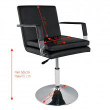 Gabbiano fotel fryzjerski 049 czarny