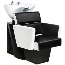 Gabbiano myjnia fryzjerska dublin biało-czarna