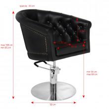 Gabbiano fotel fryzjerski londyn czarny