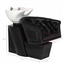 Gabbiano myjnia fryzjerska londyn czarna