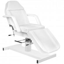 Zestaw fotel 210 + taboret 312 biały + prześcieradło fliselinowe