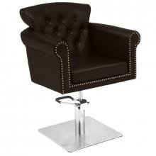 Gabbiano fotel fryzjerski berlin brązowy