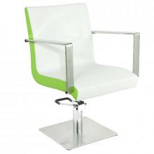 Gabbianno fotel fryzjerski roma biało-zielony