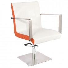 Gabbianno fotel fryzjerski roma biało-pomarańczowy