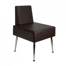 Gabbiano fotel do poczekalni d-23 brązowy