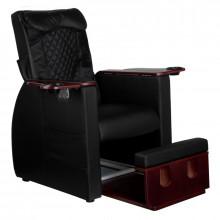 Fotel spa do pedicure z masażem pleców azzurro 101 czarny