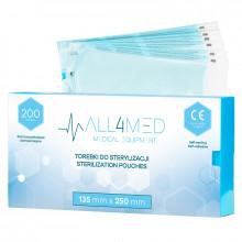 All4med torebki do sterylizacji w autoklawie 135mm x 250 mm 200szt\n\n