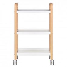 Stolik - pomocnik kosmetyczny hs drewno - biały
