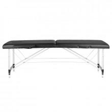 Stół składany do masażu aluminiowy komfort 2 segmenty black