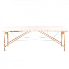 Stół składany do masażu wood komfort 2 segmentowe cream