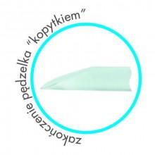 Pędzel clear 4mm żel naturalny włos