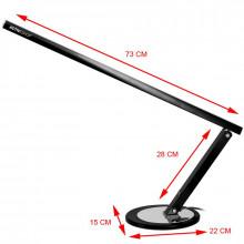 Lampa na biurko slim 20w czarna