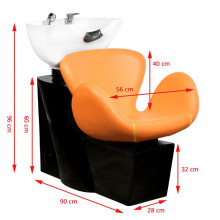 Gabbiano myjnia fryzjerska amsterdam pomarańczowa