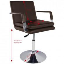 Gabbiano fotel fryzjerski 049 brązowy