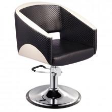 Gabbiano fotel fryzjerski paryż czarno - beżowy