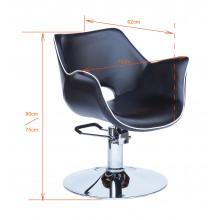 Gabbiano fotel fryzjerski genewa czarny