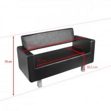 Gabbiano sofa do poczekalni turyn czarna