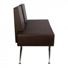 Gabbiano sofa do poczekalni d-023b brązowa