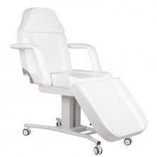 Fotel kosmetyczny na kółkach a-241 biały