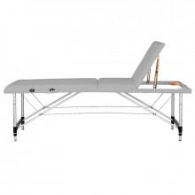 Stół składany do masażu aluminiowy komfort 3 segmentowy szary