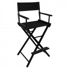 Krzesło do makijażu look drewniane czarne