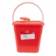 Pojemnik na odpady medyczne 5,0l czerwony