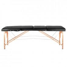 Stół składany do masażu wood komfort 3 segmentowe black