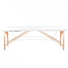 Stół składany do masażu wood komfort 3 segmentowe white