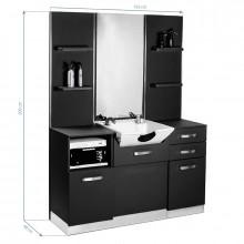 Gabbiano konsola fryzjerska z umywalką b085 czarna