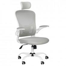 Fotel biurowy max comfort 73h biało - szary