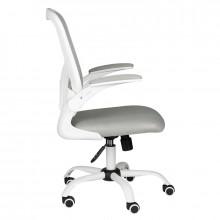 Fotel biurowy comfort 73 biało - szary