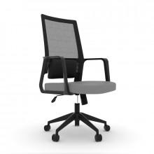 Fotel biurowy comfort 10 czarno - szary