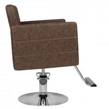 Hair system fotel fryzjerski hs33 brązowy