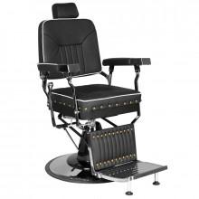 Gabbiano fotel barberski filippo silver czarny