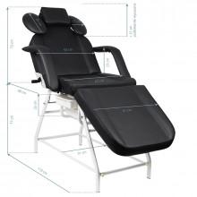 Fotel zabiegowy do rzęs ivette czarny
