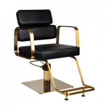 Gabbiano fotel fryzjerski portofino gold czarny