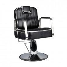 Gabbiano fotel barberski matteo czarny