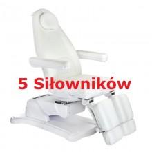 Elektryczny fotel kosmetyczny Mazaro BR-6672A 5 siłowników Biały