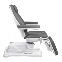 Elektryczny fotel kosmetyczny Mazaro BR-6672A 5 siłowników Szary